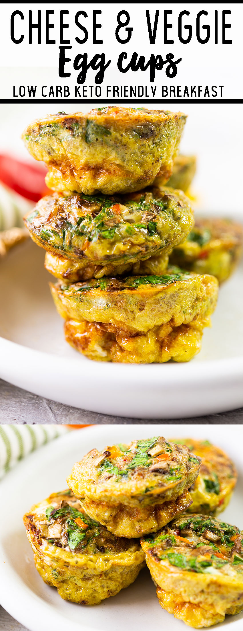 Cheese and veggie egg cups