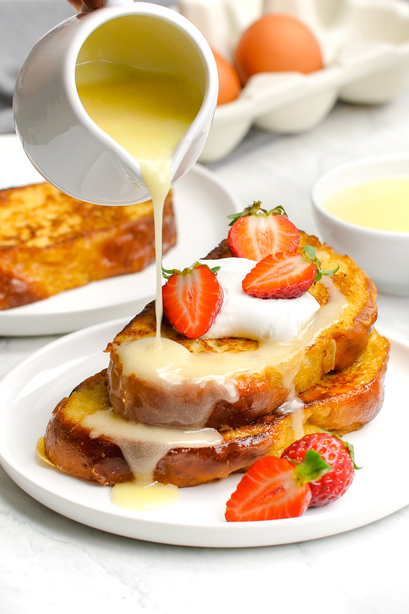 French toast with buttermilk syrup