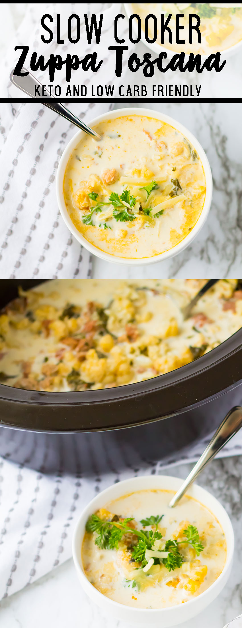 Slow Cooker Zuppa Toscana is a low carb soup