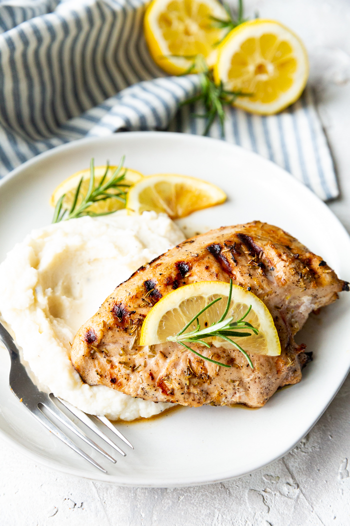 Lemon Rosemary marinated chicken breast