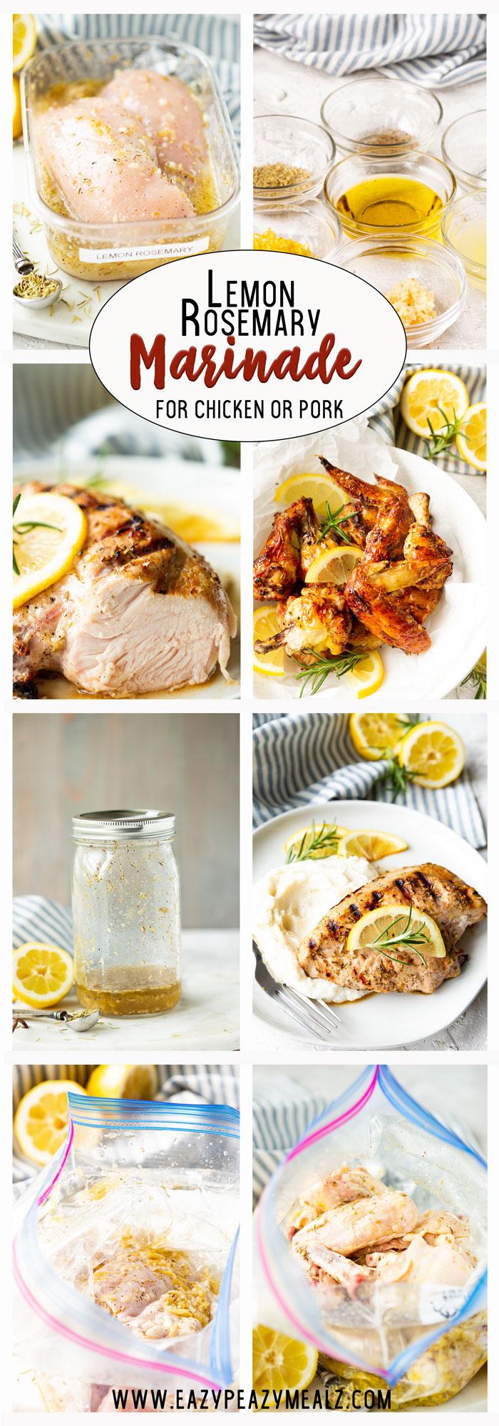 Lemon rosemary marinade