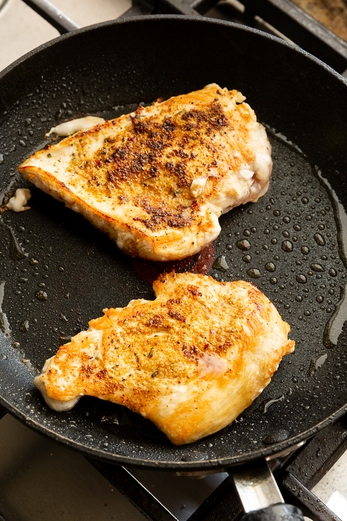 Searing Chicken