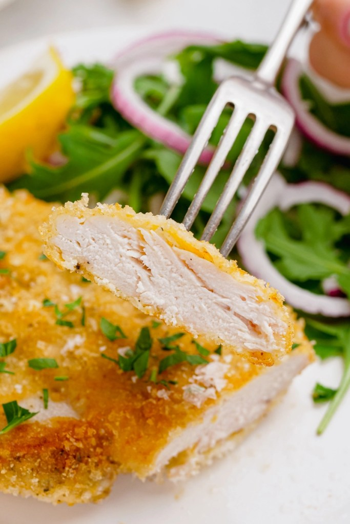 Delicious breaded baked chicken cutlets