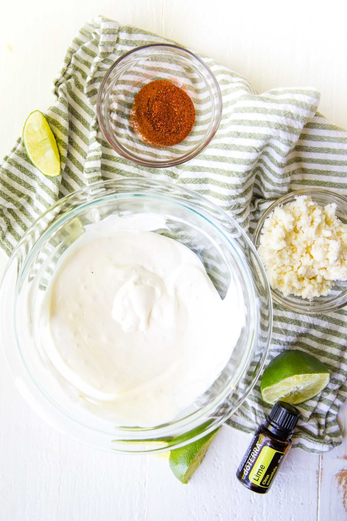 The creamy sauce for elote