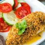 Lemon Basil Chicken with crunchy panko coating