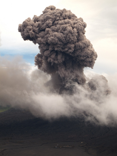 Gunung Bromo's Mushroom Plume