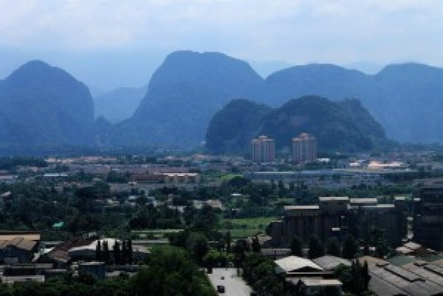 View of Ipoh from Tong Cave Temple