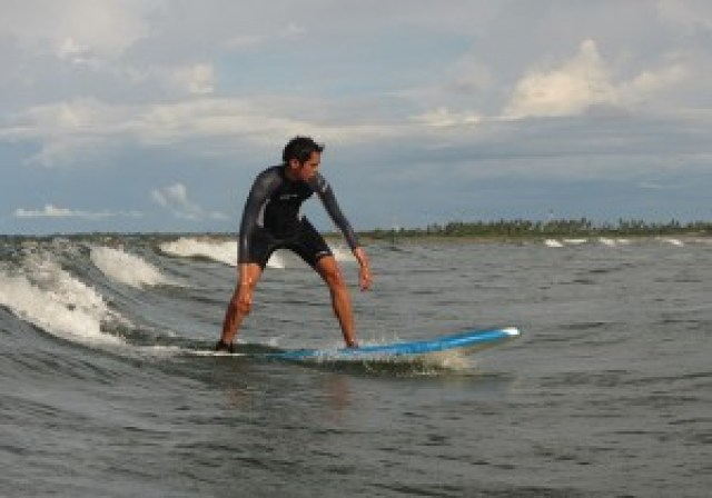 Surfing in Bagasbas Beach