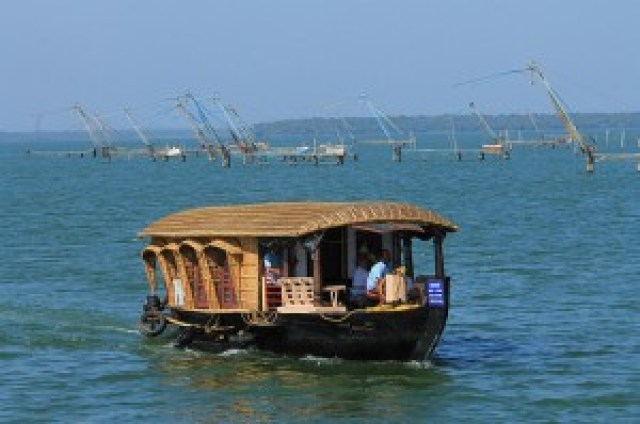 Kettuvallam (Houseboat) on Ashtamudi Lake