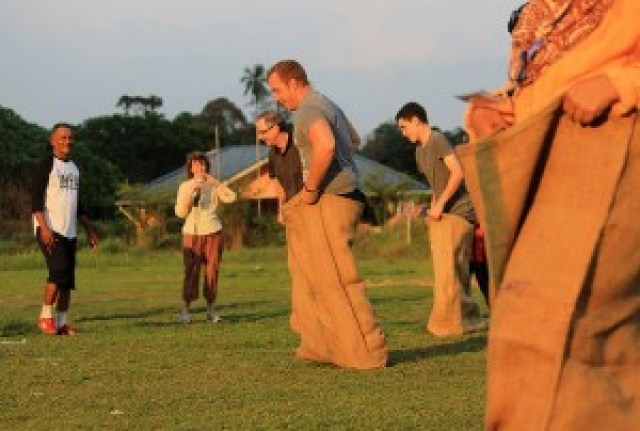 Traditional Games at Homestay