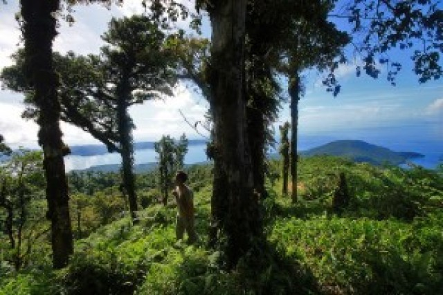 Hiking Balut Volcano