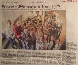 Christkind besucht das Labenwolf Gymnasium (Quelle: NN 2.12.2016)