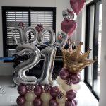 סידור בלונים ליום הולדת 21