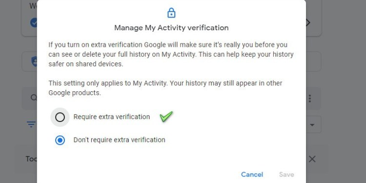 Require extra verification