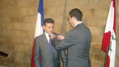 صورة الجمهورية الفرنسية تكرم الدكتور هيثم الغوش