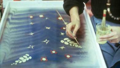 صورة الرسم على الماء … فن وأسرار