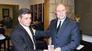 """صورة ميدالية """"إتحاد الفرنسيين في الخارج (UFE) للدكتور هيثم الغوش"""""""