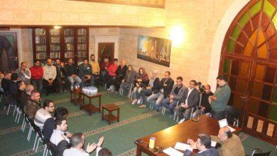 صورة لقاء شبابي أول في زاوية جامع برجا الكبير للتشاور بالإستحقاق البلدي