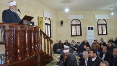 صورة المفتي الجوزو يفتتح مسجد أبي بكر الصديق في برجا