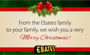 Special Message for Ebates Fans