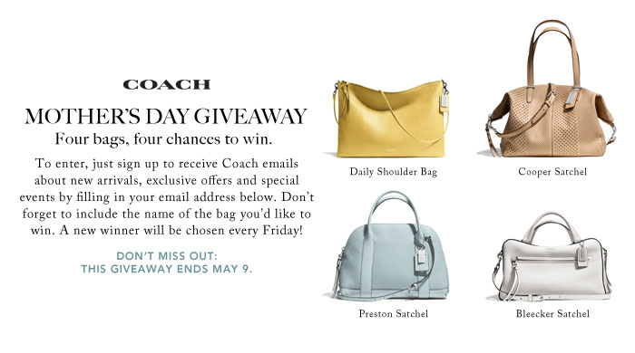 Coach – Mother's Day Giveaway