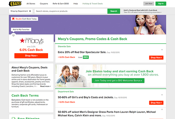 Save with Macy's Coupons & Promo Codes at Ebates