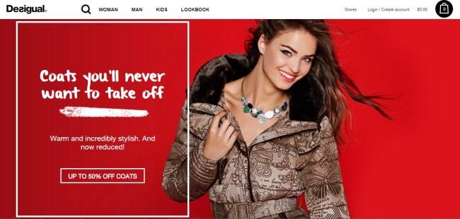 Desigual Homepage