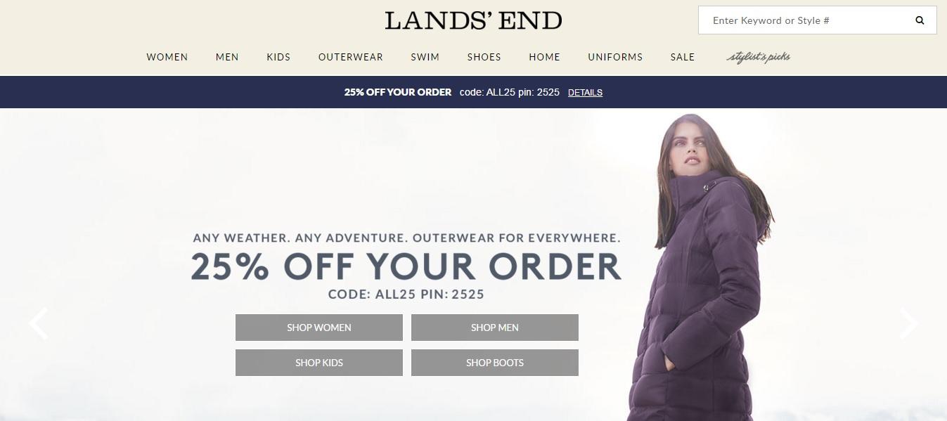 Lands End Homepage