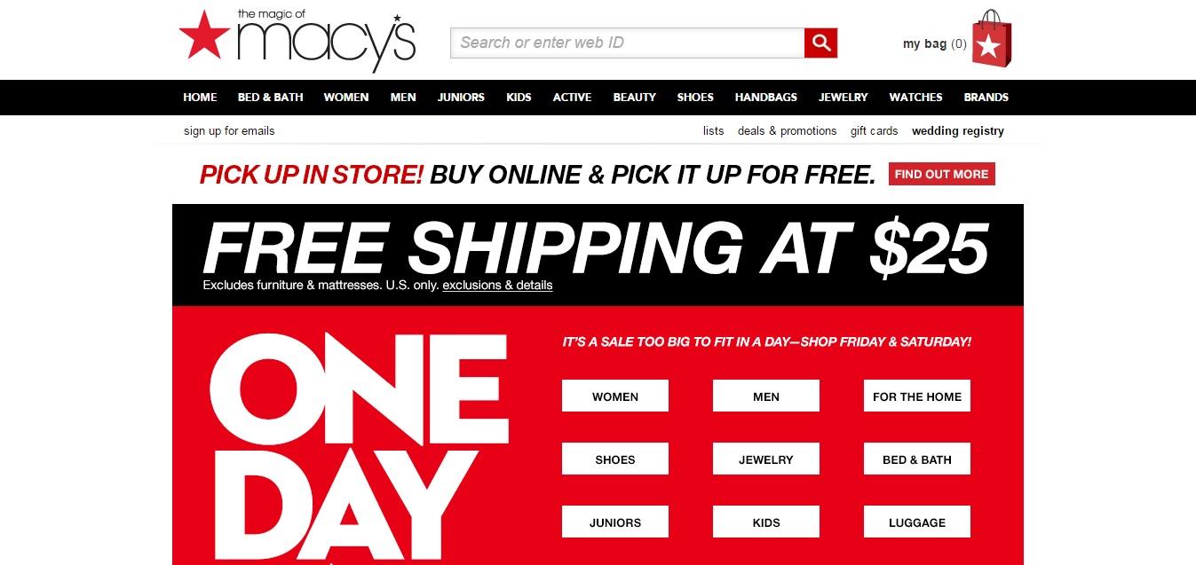 Macys Homepage
