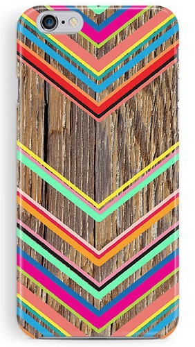 Neon Chevron iPhone Case