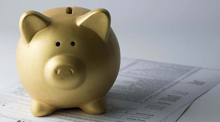 Gold Piggy Bank Tax Forms
