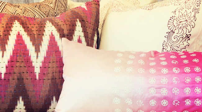 Mixed Print Throw Pillows