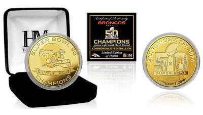 Denver Broncos Super Bowl 50 Champions Gold Coin2