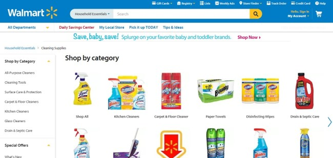 Walmart Cleaning Supplies