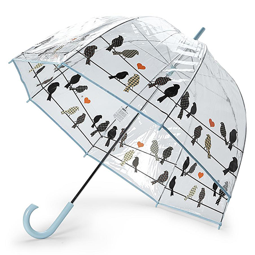 Clear Bubble Umbrella With Birds