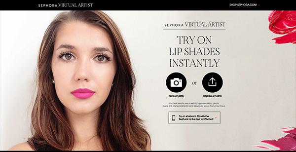 Sephora Virtual Artist Website