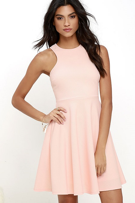 Now or Skater Peach Dress
