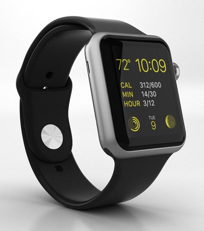 Black Apple Watch Sport fitness tracker wearable