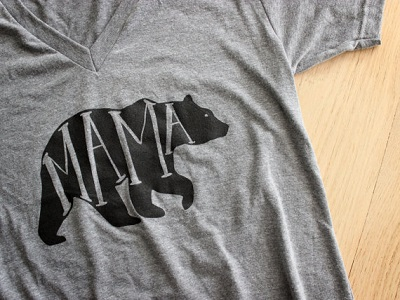 Grey mama bear t-shirt mother's day gift