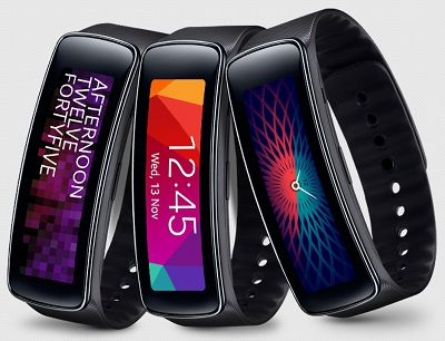 Samsung Gear Fit black fitness tracker wearable
