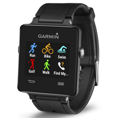 Black Garmin Vivoactive Sports Fitness SmartWatch
