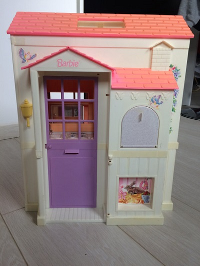 Vintage used Barbie dream house