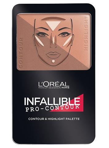 L'Oreal Paris Infallible Pro-Contour Contour & Highlight Palette, Deep