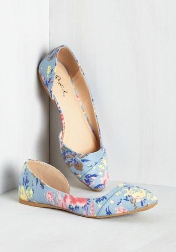 Floral flat shoes