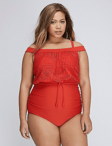 Off-Shoulder One-Piece Swimsuit