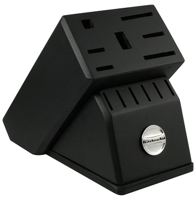 Black cutlery block