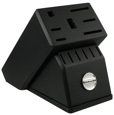 Black cutlery block
