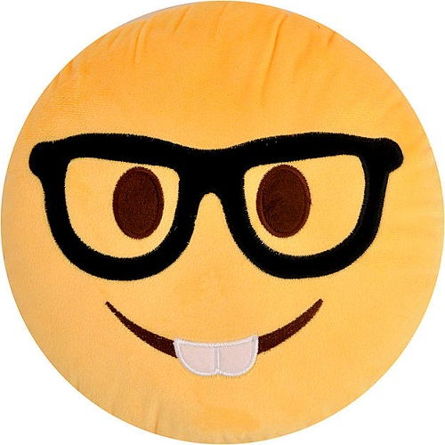 Emoji Pillow – Nerd
