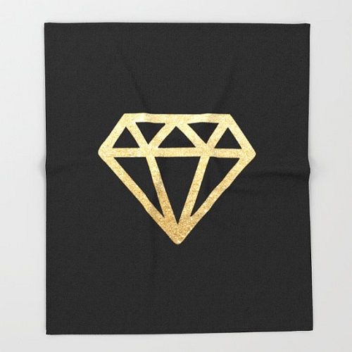 Gold Diamond Throw Blanket