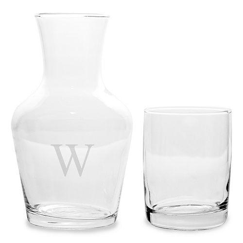 Monogrammed water carafe